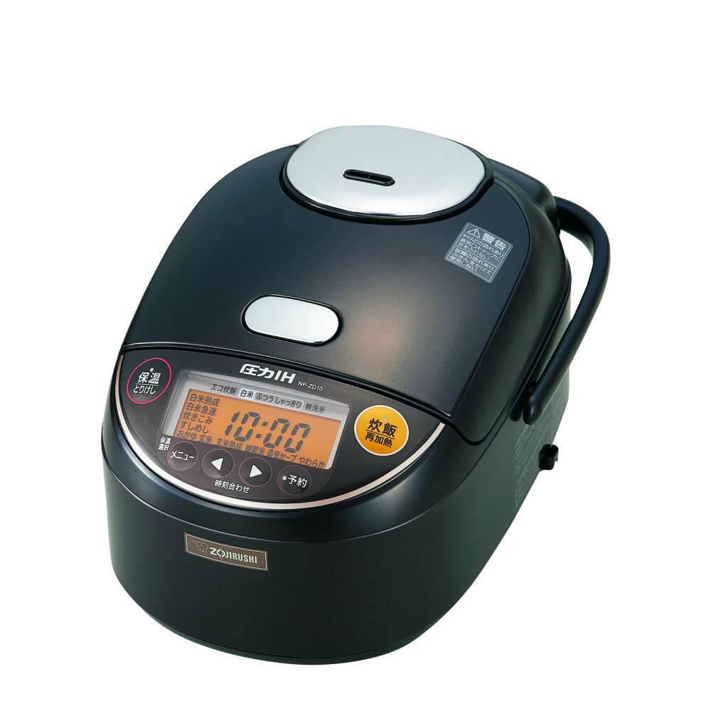 象印の炊飯器 極め炊き「NP-ZD10-TD」を上からみた